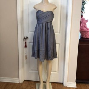Short grey prom, dinner or after five dress